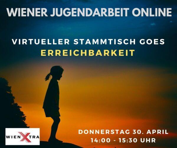 Sreenshot der Bewerbung für die Veranstaltung: Ein Mädchen ist als Silhouette abgebildet, der Hintergrund verbreitet Sonnenuntergansstimmung.