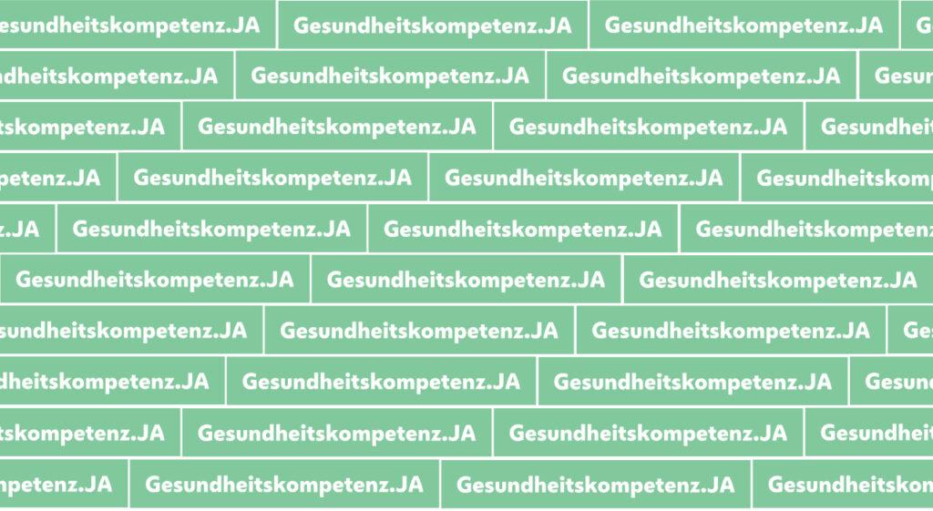 """Das Bild zeigt das Logo des Jahressschwerpunkts """"Gesundheitskompetenz.ja der Stadt Wien"""