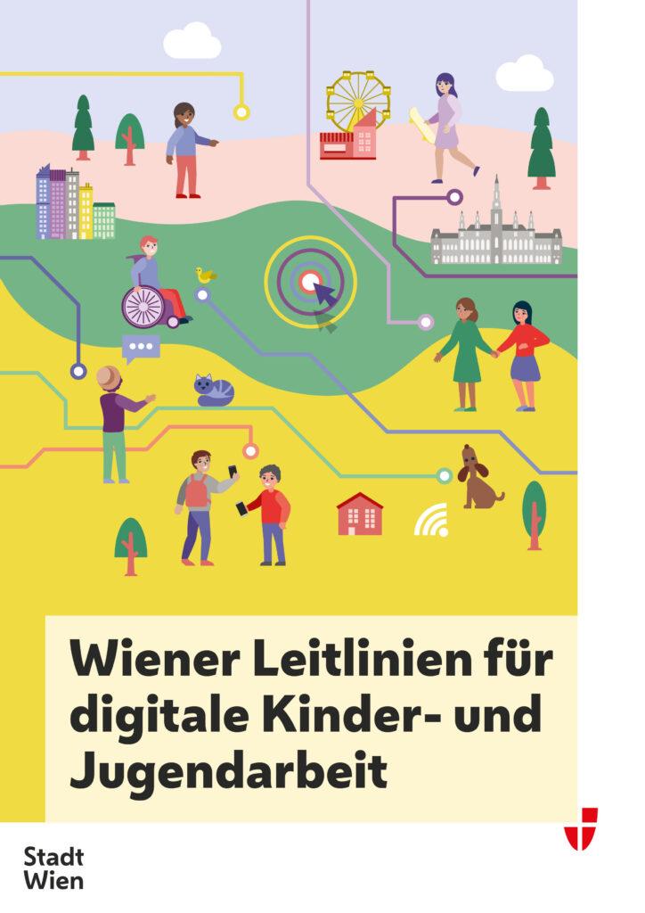Dekobild des Covers der Wiener Leitlinien für digitale Kinder- und Jugendarbeit